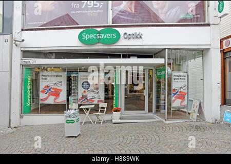 Specsavers shop, Stavanger, Norway - Stock Photo