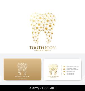 Premium business card print template visiting dental clinic card modern business stylish designv premium business card print template visiting dental clinic card with tooth logo dentist office flashek Image collections