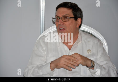Porlamar, Venezuela. September 15th, 2016: Minister of Foreign Affairs of Cuba, Bruno Eduardo Rodríguez Parrilla - Stock Photo
