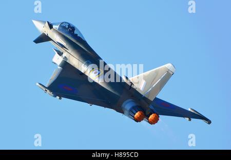 Eurofighter Typhoon showing its power - Stock Photo