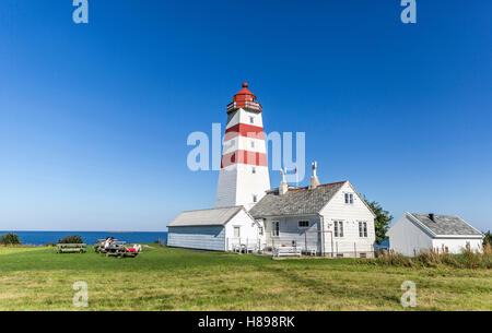Lighthouse in Alnes, Norway - Stock Photo