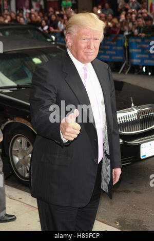 NEW YORK, NY - OCTOBER 17: Donald Trump seen at Late Show with David Letterman in New York City. October 17, 2013. Credit: Corredor99/MediaPunch Inc.