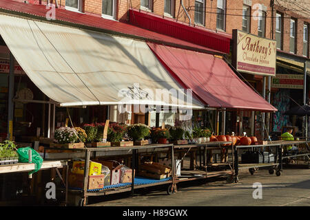 Italian Market, South 9th Street, Philadelphia, Pennsylvania, USA - Stock Photo