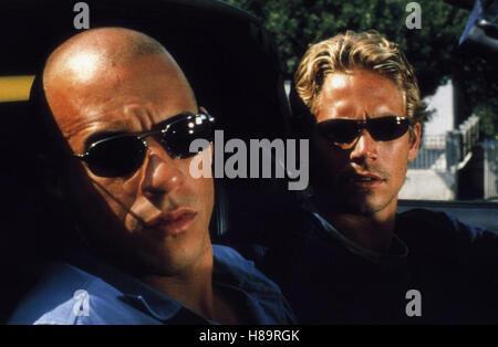 The Fast and the Furious, (THE FAST AND THE FURIOUS) USA 2001, Regie: Rob Cohen, VIN DIESEL, PAUL WALKER, Stichwort: - Stock Photo