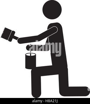 person painting icon image vector illustration design  design - Stock Photo