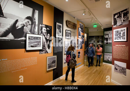 Display concerning the mysterious death of actress Natalie Wood at the Catalina Island Museum - Stock Photo