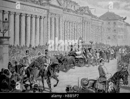 the funeral of Charles, Karl Friedrich Alexander, Koenig von Wuerttemberg; 6 March 1823 - 6 October 1891, was King - Stock Photo