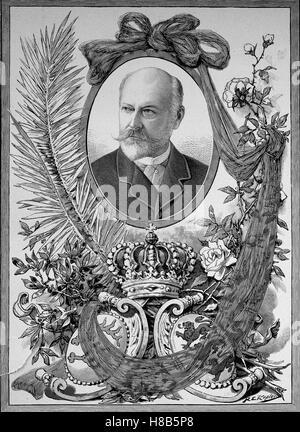 Charles, Karl Friedrich Alexander, Koenig von Wuerttemberg; 6 March 1823 - 6 October 1891, was King of Wuerttemberg, - Stock Photo