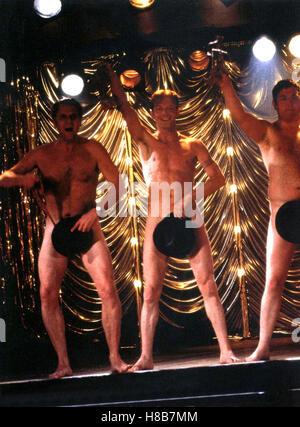 Ganz oder gar nicht, (THE FULL MONTY) GB 1997, Regie: Peter Cattaneo, PAUL BARBER, HUGO SPEER, MARK ADDY, Stichwort: - Stock Photo