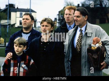 Ganz oder gar nicht, (THE FULL MONTY) GB 1997, Regie: Peter Cattaneo, WILLIAM SNAPE, MARK ADDY, ROBERT CARLYLE, - Stock Photo