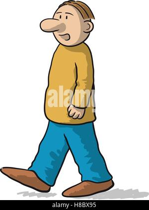 That character walks and talks - Stock Photo