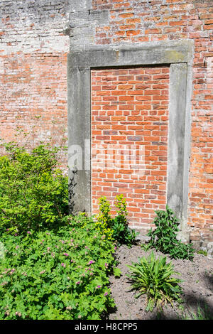 ... Bricked up doorway in walled garden - Stock Photo & Blocked up bricked up entrance in a red brick wall. London UK ... Pezcame.Com
