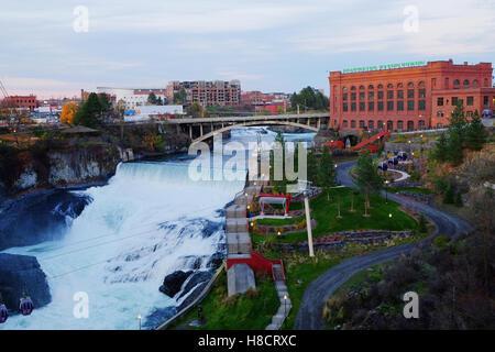 washington water power station - Avista - Spokane Washington, - Stock Photo