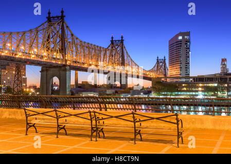Queensboro Bridge in New York City. - Stock Photo