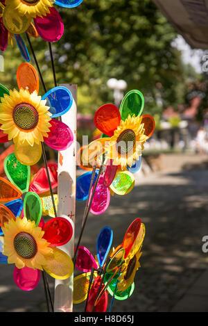 Colorful pinwheels - Stock Photo