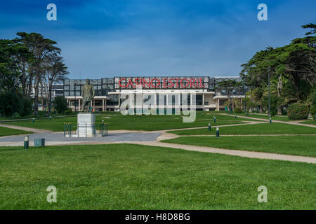 Estoril Portugal. 29 October 2016. View of the Estoril Gardens with the casino estoril on back. Estoril, Portugal. - Stock Photo