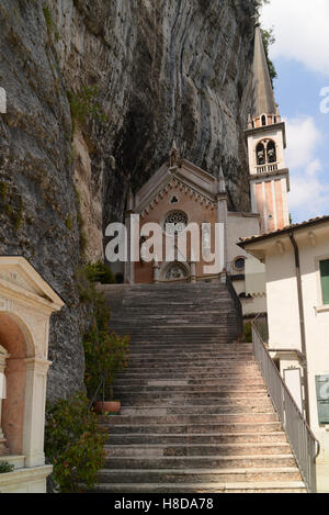 Santuario Madonna della Corona church in Ferrara di Monte Baldo, Verona, Italy. - Stock Photo