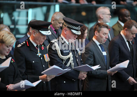 City Hall, London 11 Nov 2016 The Mayor of London, Sadiq Khan, Chairman of the London Assembly, Tony Arbour, London - Stock Photo