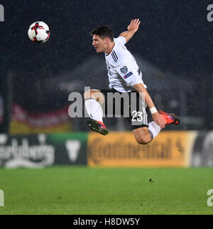 San Marino. 11th Nov, 2016. Germany's Mario Gomez vies for the ball during the 2018 World Cup Group C qualifying - Stock Photo