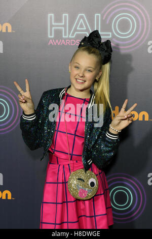 New York, New York, USA. 11th Nov, 2016. Nickelodeon Halo Awards 2016 held at pier 36 in New York City. Celebrities - Stock Photo