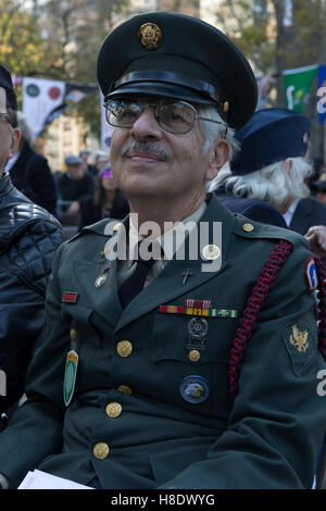 New York, United States. 11th Nov, 2016. Atmosphere during Veterans Day Parade on New York 5th Avenue Credit:  lev - Stock Photo