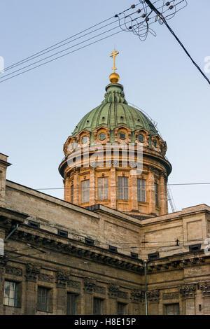 The Kazan Cathedral on the Nevsky Prospekt in Saint Petersburg - Stock Photo