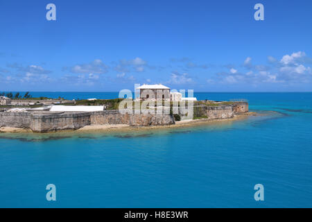 King's Wharf Bermuda view from the Sea, North Arm, Royal Naval Dockyard, King´s Port,  Bermuda. - Stock Photo