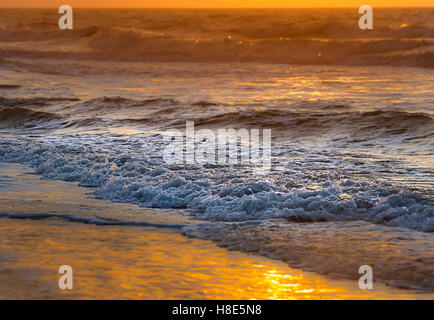 Artistic Sunrise With Waves - Stock Photo