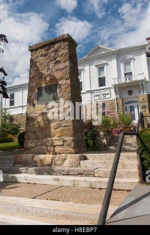 Victoria county court house Baddeck Cape Breton Nova Scotia - Stock Photo