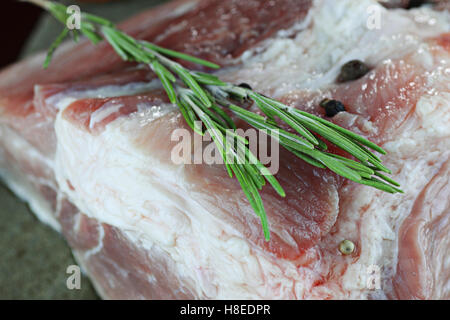 meat raw spices pepper - Stock Photo