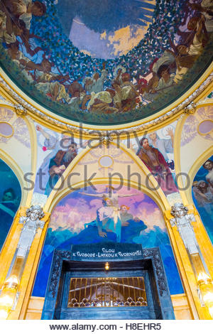 The Mucha Room at Municipal House, designed entirely by Alphonse Mucha, Stare Mesto (Old Town), Prague, Czech Republic - Stock Photo