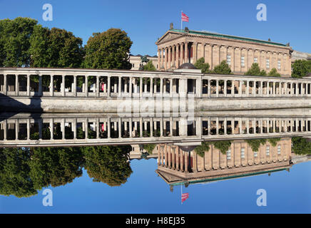 Alte Nationalgalerie (Old National Gallery), Colonnades, Museum Island, UNESCO World Heritage Site, Mitte, Berlin, - Stock Photo