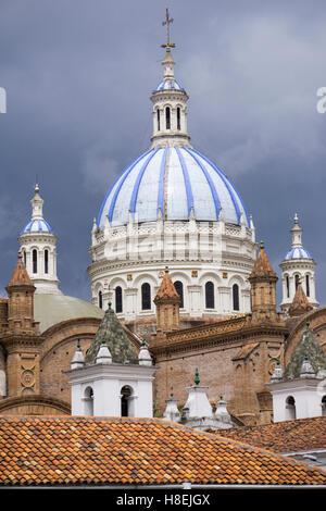 Cuenca cathedral, Cuenca, UNESCO World Heritage Site, Ecuador, South America - Stock Photo