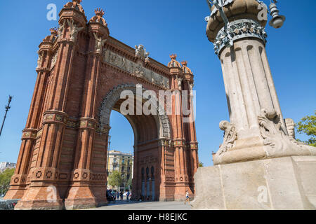 Arco de Triunfo de Barcelona, Barcelona, Catalonia, Spain, Europe - Stock Photo