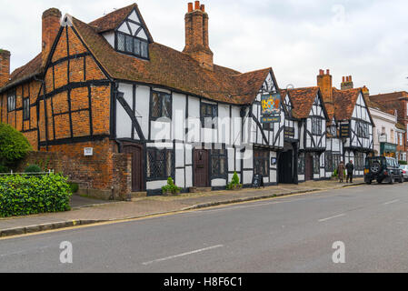 The Kings Arms hotel, Old Amersham, Buckinghamshire, England. November 2016 - Stock Photo