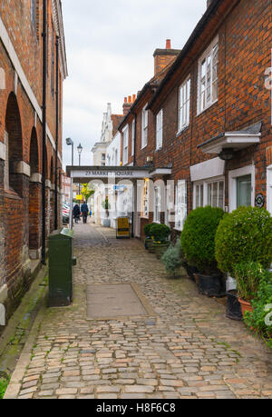 View of the High Street in Old Amersham, Buckinghamshire, England. November 2016. - Stock Photo