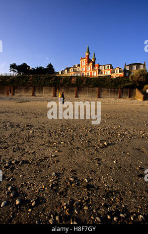 Hotel at Le Crotoy, Somme bay, France, Europe - Stock Photo