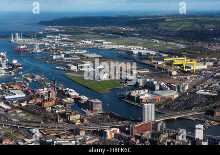 Belfast Aerial 2016 - Stock Photo