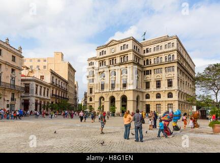 stock market, Lonja del Comercio, Plaza San Francisco de Asis, historical old town of Havana, Habana Vieja, Cuba, - Stock Photo
