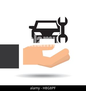insurance car support tool graphic vector illustration eps 10 - Stock Photo