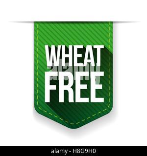 Wheat Free sign ribbon - Stock Photo