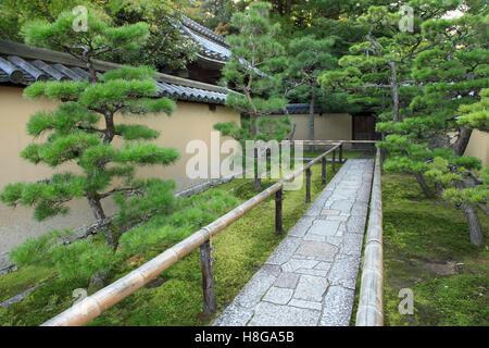 Japan, Kyoto, Daitoku-ji, Koto-in, garden, , path, - Stock Photo