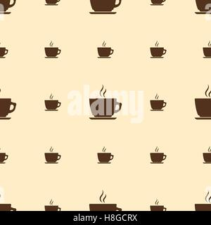 Seamless pattern with coffee cup - Stock Photo