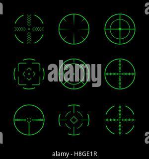 Set of crosshairs target icons. - Stock Photo
