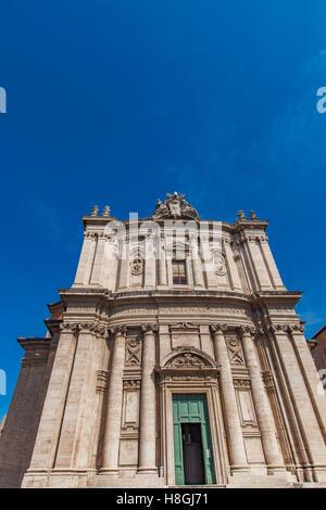 View at church of Santi Luca e Martina in Rome - Stock Photo