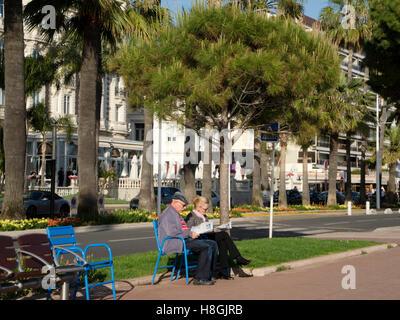 Frankreich, Cote d Azur, Cannes, Flaniermeile Boulevard de la Croisette