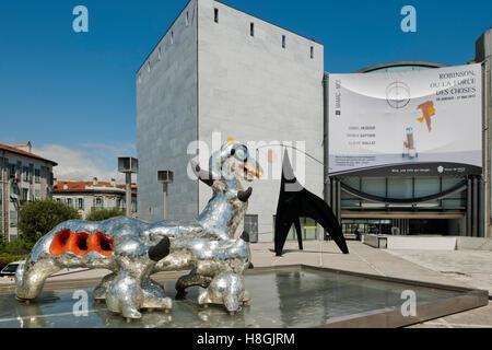 Frankreich, Cote d Azur, Nizza, Musée d´Art Moderne et d´Art Contemporain, Museum für Moderne Kunst an der Promenade - Stock Photo