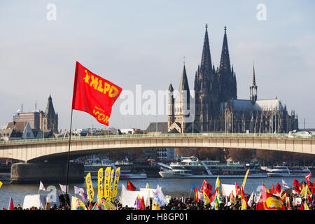 Cologne, Germany. 12 November 2016. Alevi and Kurd demonstrate against Recep Tayyip Erdogan and his policy. Credit: - Stock Photo