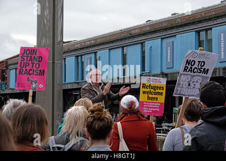 Bristol, UK. 12th November, 2016. A demonstration against the election of Donald Trump as president of the USA took - Stock Photo