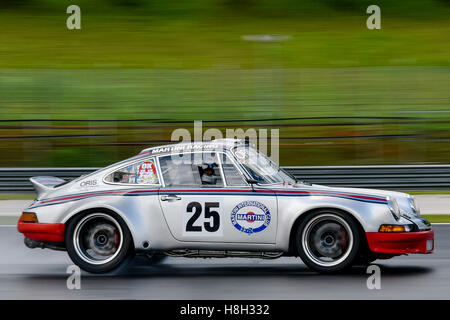 Emil Klingelfuss driving the (25) Porsche 911 RSR on track during the Asia Classic Car Challenge at Sepang Circuit - Stock Photo